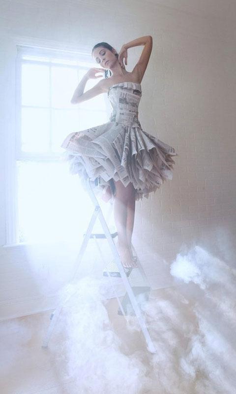 报纸做婚纱裙子步骤图