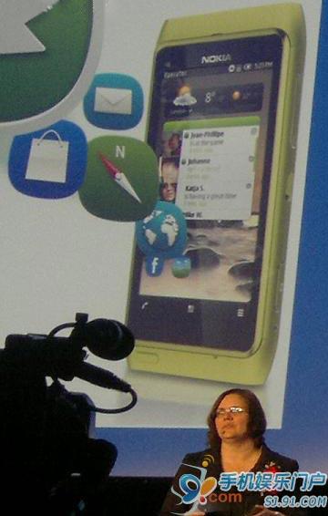 Symbian新UI亮相诺基亚E7发布会