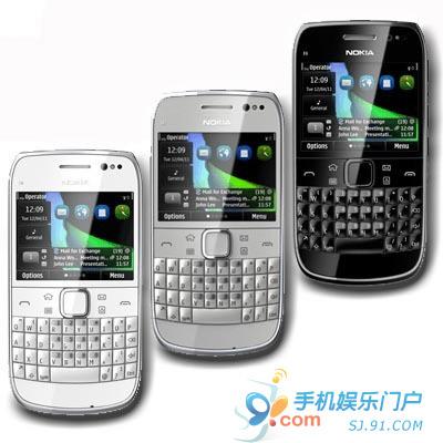 诺基亚E6-00银色版现身 预购价2900元